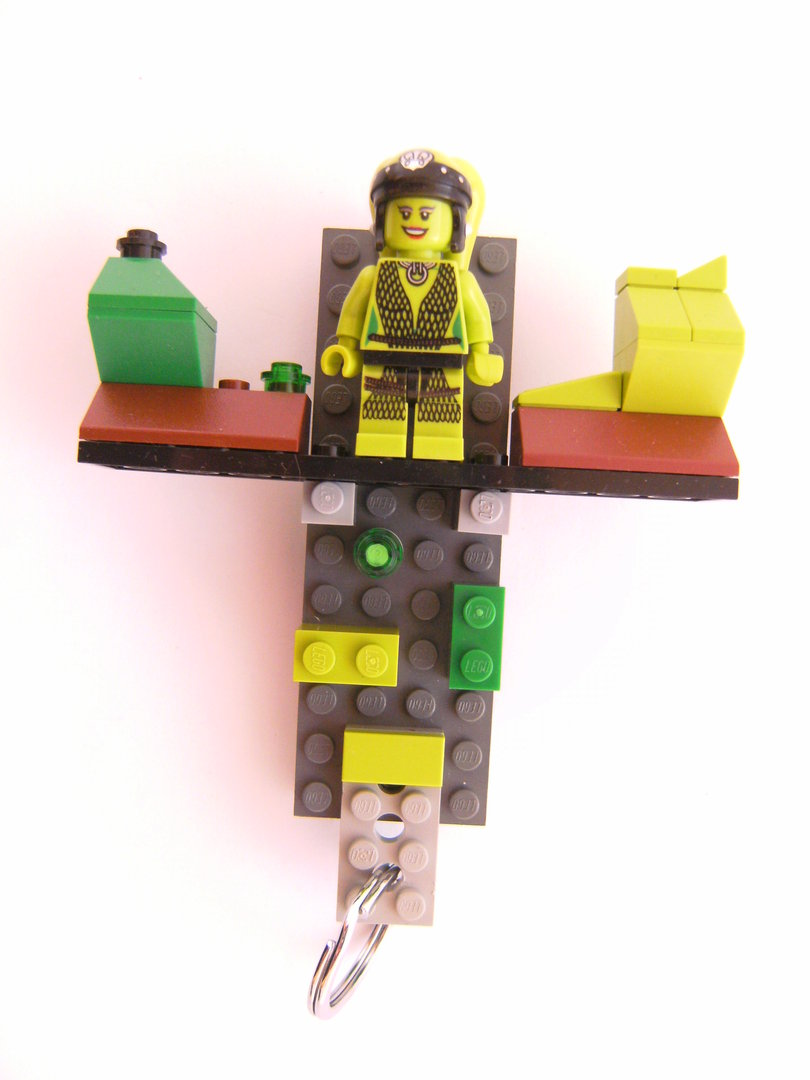 schlüsselbrett aus lego steinen mit 1 schlüsselanhänger, star wars