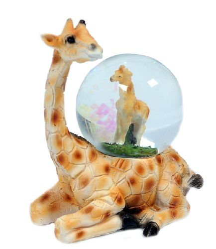 Glitzerkugel Giraffe