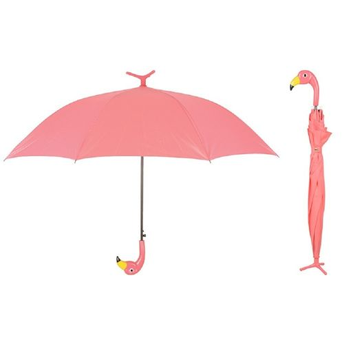 Stockschirm Flamingo